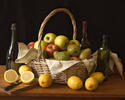 Still Life with Winter Fruit and Sliced Lemons